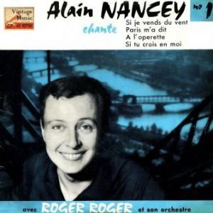 Paris M'a Dit, Alain Nancey