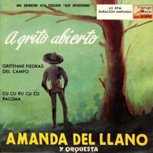 A Grito Abierto, Amanda Del Llano
