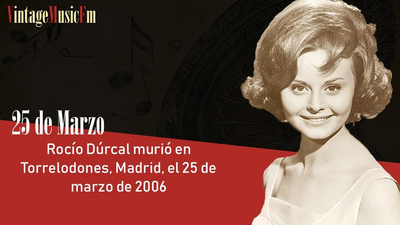 Rocío Dúrcal murió en Madrid el 25 de marzo de 2006