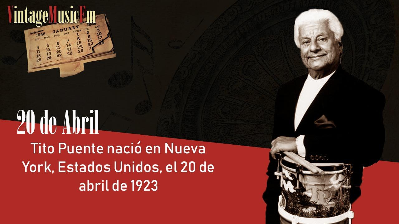 Tito Puente nació en Nueva York, Estados Unidos, el 20 de abril de 1923
