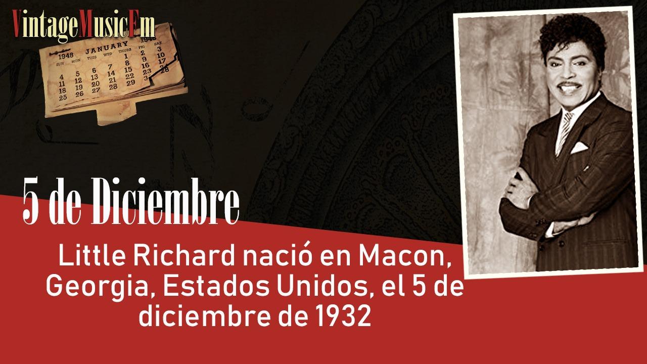 Little Richard nació en Macon, Georgia, Estados Unidos, el 5 de diciembre de 1932