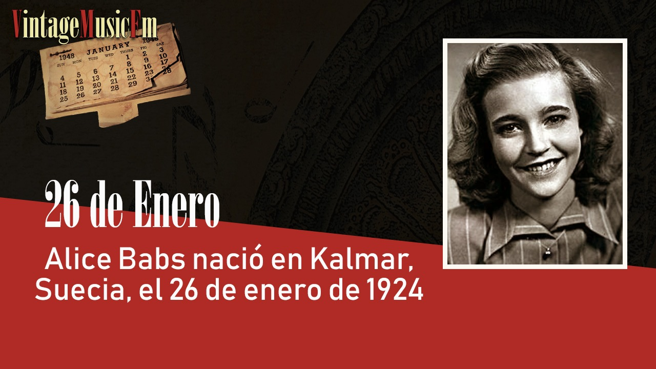 Alice Babs nació en Kalmar, Suecia, el 26 de enero de 1924