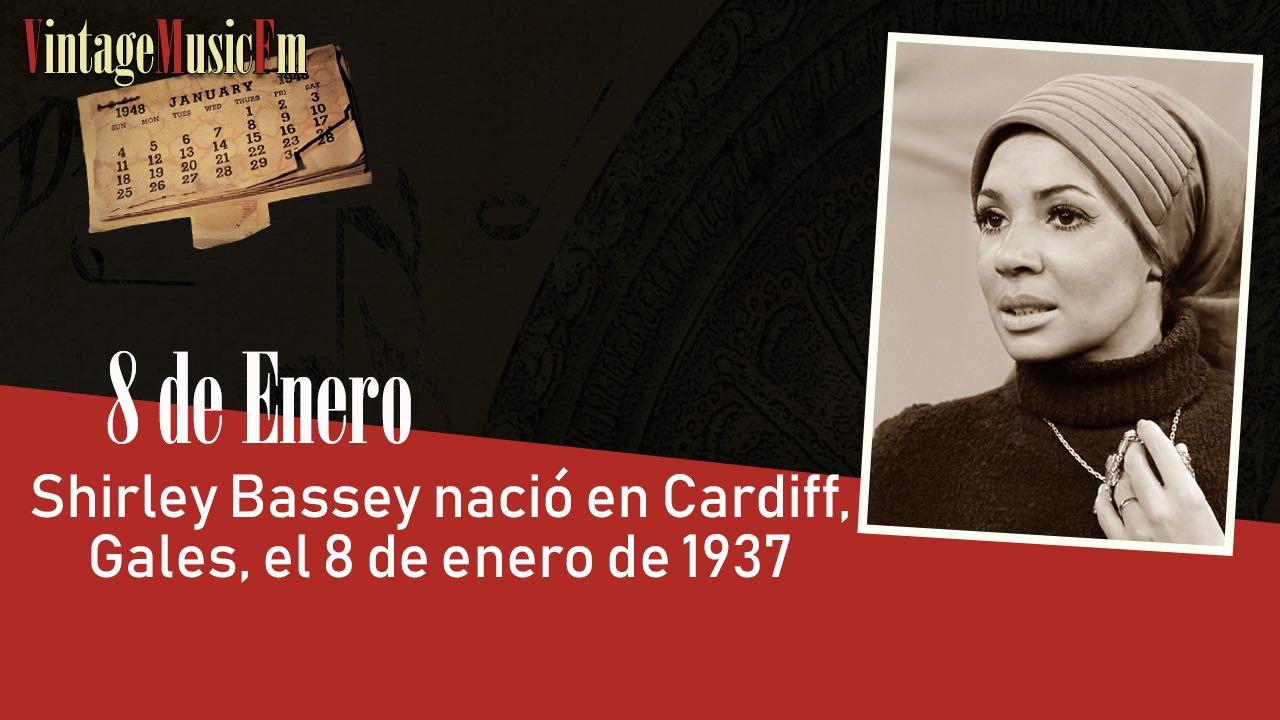 Shirley Bassey nació en Cardiff, Gales, el 8 de enero de 1937