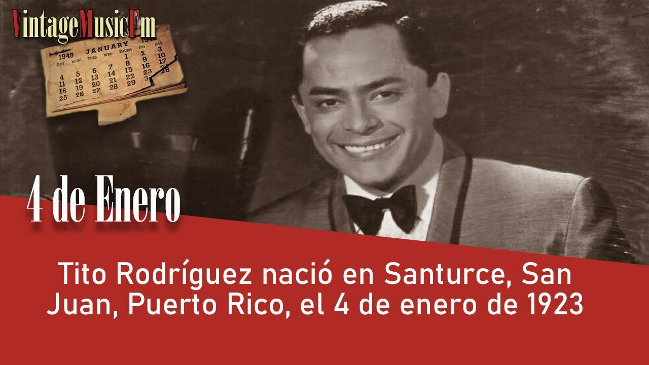 Tito Rodrígueznació en Santurce, San Juan, Puerto Rico, el 4 de enero de 1923