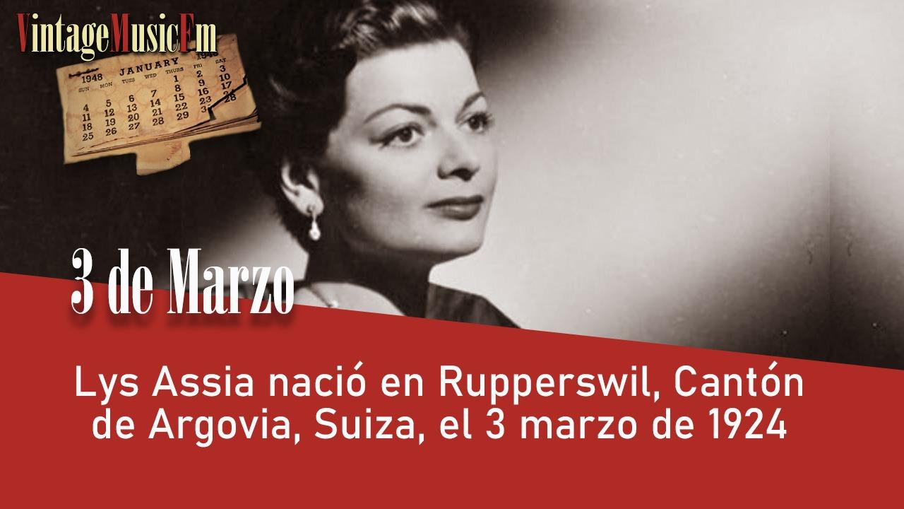 Lys Assia nació en Rupperswil, Cantón de Argovia, Suiza, el 3 marzo de 1924